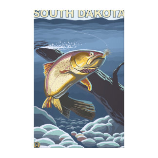 Truite impitoyable FishingSouth Dakota Toiles