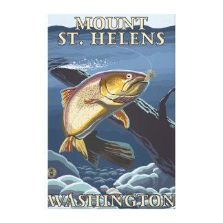 Truite pêchant la section transversale - St Helens Toiles