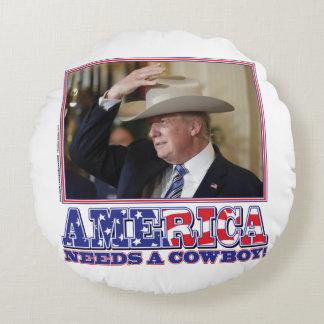 TRUMP-AMERICA-COWBOY COUSSINS RONDS