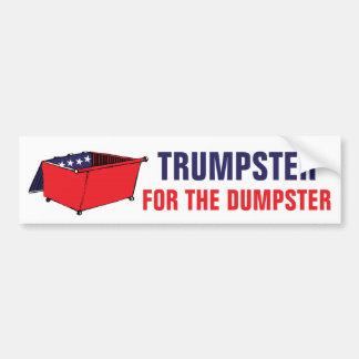 Trumpster pour le politique drôle de décharge autocollant de voiture