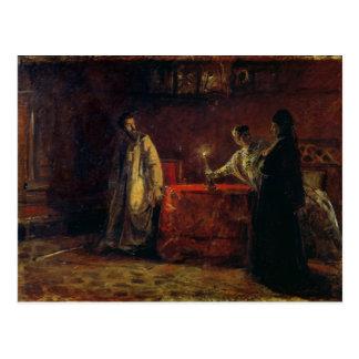 Tsar Boris Godunov et tsarine Martha, 1874 Carte Postale