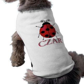 Tsar de coccinelle t-shirt pour chien