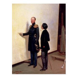 Tsar et artiste carte postale