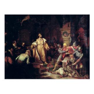 Tsar Ivan III déchirant le contrat de Khan tatar Carte Postale