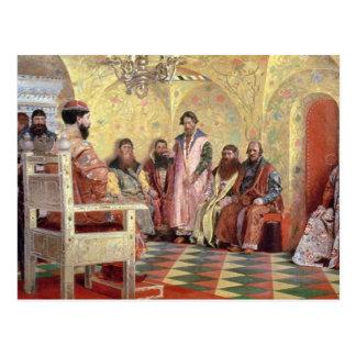 Tsar Mikhail Fyodorovich avec Boyars Carte Postale
