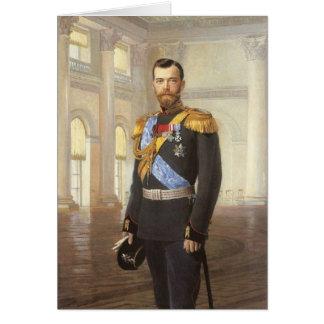 Tsar Nicholas II Carte De Vœux