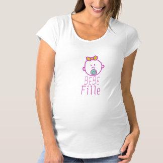 """Tshirt de maternité """"Bébé Fille"""" T-shirts"""