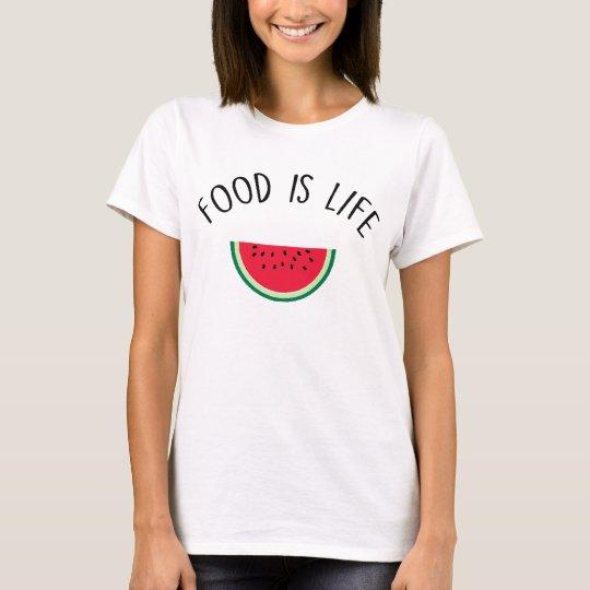 TSHIRT FOOD IS LIFE - FEMME