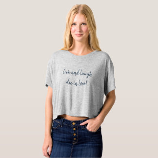 Tshirt oversize et ventre nu « en direct and laugh