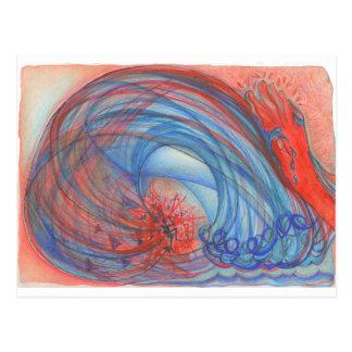 Tsunami de haine carte postale
