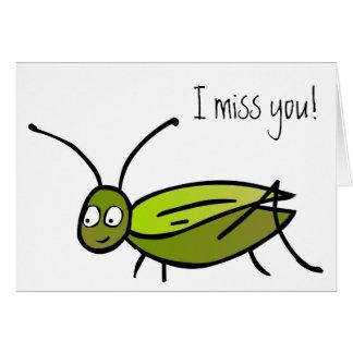 Tu me manque ! Carte de cricket