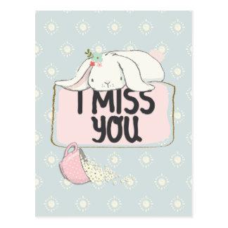 Tu me manque carte postale