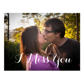 Tu me manque carte postale romantique de photo