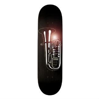 Tuba d'instrument de musique - conceptions de plateau de skate