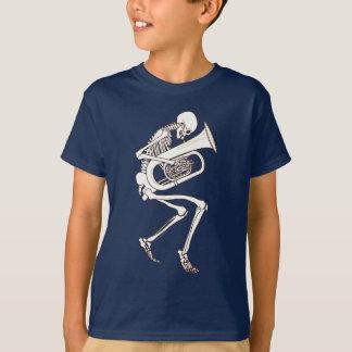 Tuba jouant le squelette t-shirt