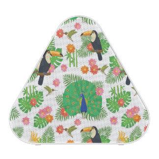 Tucan et motif de paon haut-parleur bluetooth