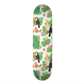 Tucan et motif de paon skateboards personnalisés