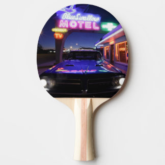 Tucumcari, Nouveau Mexique, Etats-Unis. Itinéraire Raquette De Ping Pong