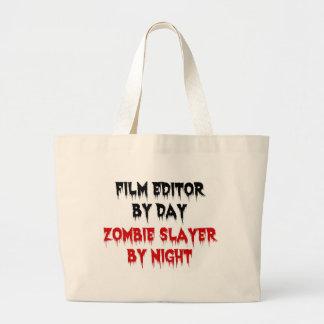 Tueur de zombi de rédacteur de film sac en toile jumbo