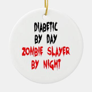 Tueur diabétique de zombi ornement rond en céramique