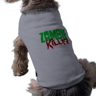Tueur drôle de zombi de chemise de chien t-shirt pour chien
