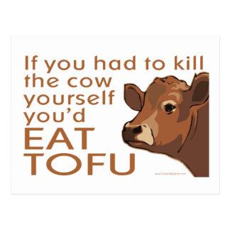 Tuez la vache - végétalien, végétarien carte postale