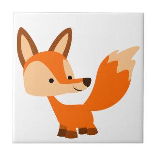 Tuile amicale mignonne de Fox de bande dessinée Petit Carreau Carré