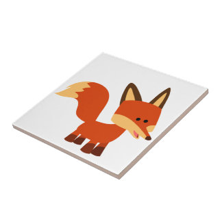 Tuile Astute mignonne de Fox de bande dessinée Petit Carreau Carré