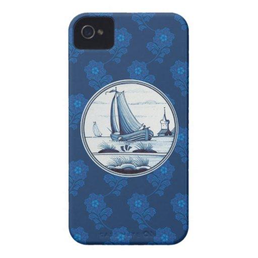 Tuile bleue traditionnelle néerlandaise coque iPhone 4 Case-Mate