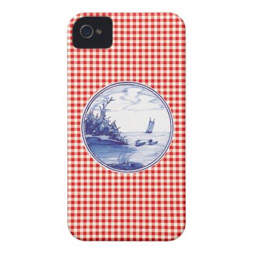 Tuile bleue traditionnelle néerlandaise coque Case-Mate iPhone 4