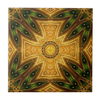 Tuile combinée celtique maltaise de mandala petit carreau carré