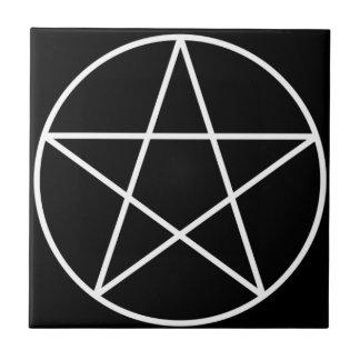 Tuile d'autel de pentagone étoilé petit carreau carré