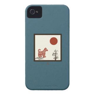 Tuile de chien de kanji coques iPhone 4