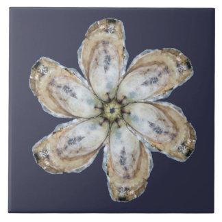 Tuile de fleur d'huître - concevez A Grand Carreau Carré