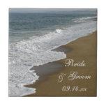Tuile de mariage de plage carreaux