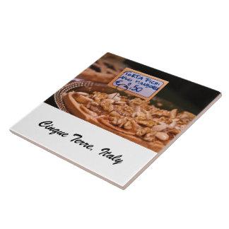 Tuile de photo - gâteau de dessert - Cinque Terre, Grand Carreau Carré