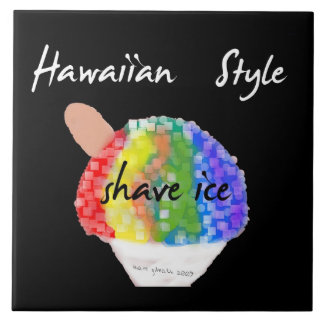 Tuile décorative de glace de rasage de style hawaï grand carreau carré