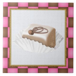Tuile douce de festin de gâteau grand carreau carré