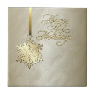 Tuile élégante de vacances de feuille d'or de floc petit carreau carré