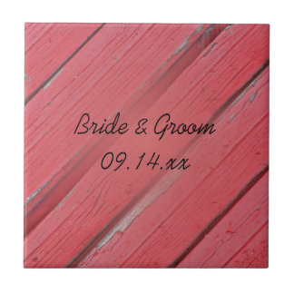 Tuile en bois de mariage campagnard de grange carreau