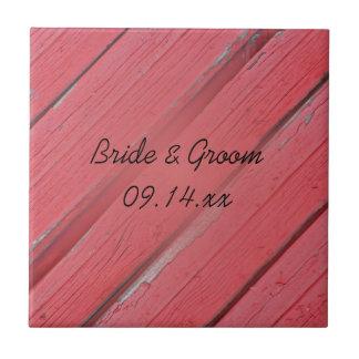 Tuile en bois de mariage campagnard de grange petit carreau carré