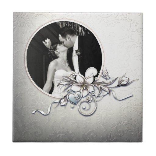 Tuile faite sur commande de cadre de mariage carreaux en céramique