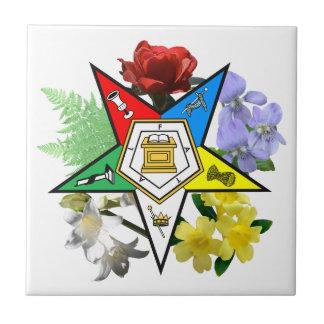 Tuile florale d'étoile orientale petit carreau carré