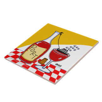 Tuile humoristique de cuisine de bande dessinée de carreau