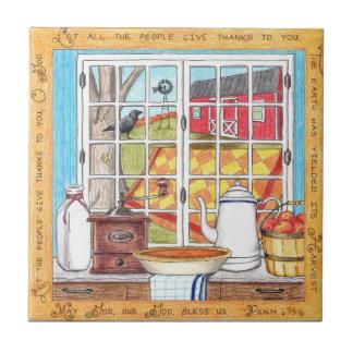 Tuile inspirée de maison de récolte petit carreau carré