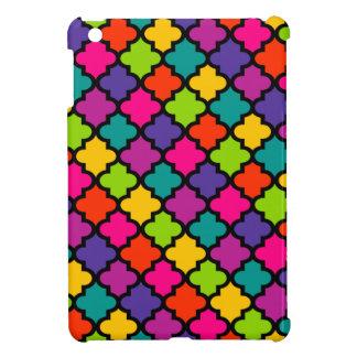 Tuile marocaine lumineuse audacieuse de couverture coques pour iPad mini