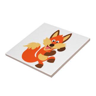 Tuile mignonne de Fox de bande dessinée de danse Petit Carreau Carré