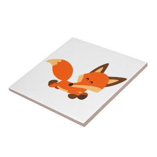 Tuile mignonne de Fox de bande dessinée de flotte Petit Carreau Carré