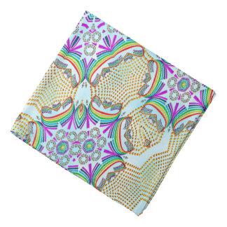 Tuile multi de couleur de motif abstrait bandanas