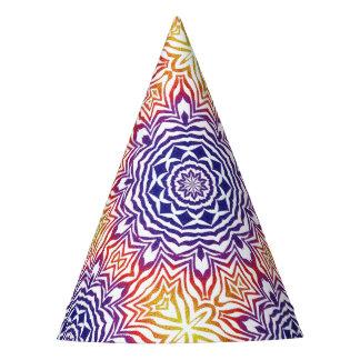 Tuile multicolore de kaléidoscope chapeaux de fètes
